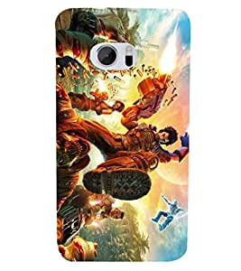 PRINTSHOPPII ANGRY CARTOON Back Case Cover for HTC One M10