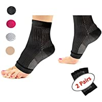 Acelec Plantar Fasciitis Socks Ultimate Support Sleeves For Your Aching Heels,Ideal Gift For Runners Running, And Cycling,Climbing etc(2 Pairs of Compression Socks Per Pack)