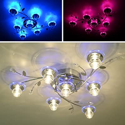 """Deckenleuchte LED """"Alexa"""" 7 FL 42 LED Farbwechsel Chrom NEU FB Deckenlampe von Maxkomfort - Lampenhans.de"""