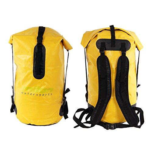 Miton Finback 50 Liter Dry Bag wasserdicht Rucksack Packsack LKW Plane Verstellbarer Schultergurt für Camping, Angeln, Boot, Rafting oder Kajak -
