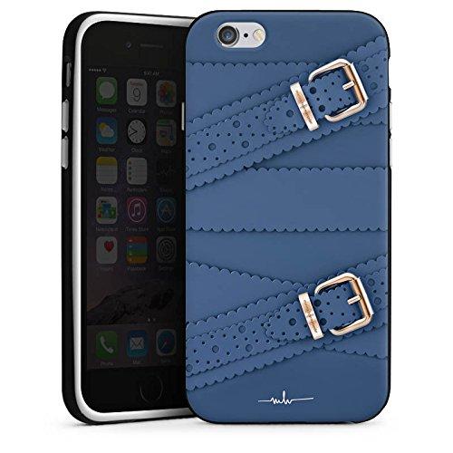 Apple iPhone X Silikon Hülle Case Schutzhülle Leder Mode Schnallen Silikon Case schwarz / weiß
