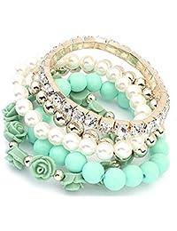 Shining Diva Fashion Pretty & Trendy Green Roses Bracelets for Girls(rrr6727b)