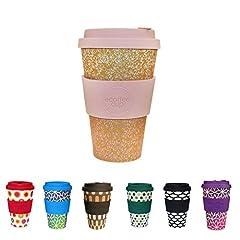 Idea Regalo - BIOZOYG Coffee Cup Bamboo sostenibile I Tazza di caffè in bambù con Coperchio in Silicone e Manica in Silicone Lavabile in lavastoviglie I caffè da asporto Tazza 400ml Miscoso Primo