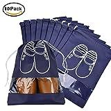 Borsa Scarpe da Viaggio, Meersee Set di 10 Sacchetto del Pattino Coulisse Borsa per Scarpe Adatti a tutti i tipi di Calzature