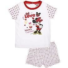 Pijama corto bebé niña Minnie rosa y rojo de ...