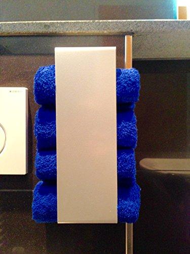 Badezimmer Einrichtung Silber Handtuchhalter exklusiv möbel modern platzsparend