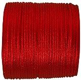Cordon queue de rat en polyester 2mm, Red, 10 Metre