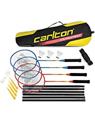 Carlton - Conjunto de 4 raquetas de bádminton, bolsa, 3 plumas y 1 red de bádminton