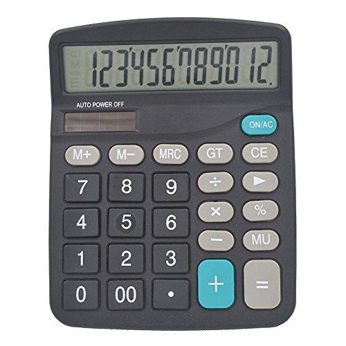 Elektronischer Taschenrechner 12Ziffern Akku, hoyoo, Büro Power Taschenrechner ABS-Material, Berechnungen devicefor für Büro Schule Finanzen