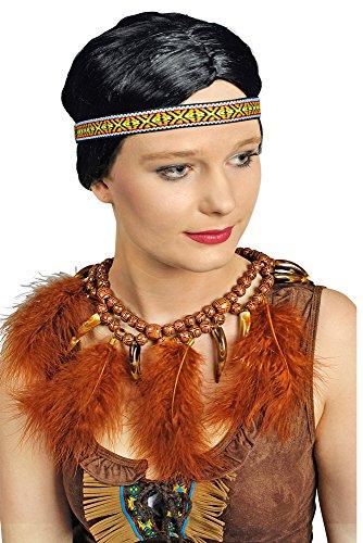 Indianer Häuptling Halskette mit Federn - Toller Indianerschmuck zum Kostüm