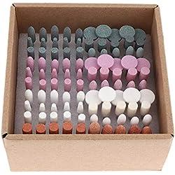 IPOTCH 100 Muelas Abrasivas para Muelas Abrasivas de Punta de Piedra Pulido Herramientas Rotativas