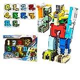 LXWM Nombre Transformation Robot Animal Jouets 10 Chiffre Symbole Mathématique Enfants Bricolage Éducatif Blocs de Construction,A