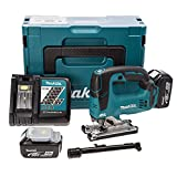 Makita DJV182RMJ 18 V Li-ion LXT Brushless Jigsaw Complete with 2 x 4.0 Ah Li-ion Batteries and Charger in a Makpac Case