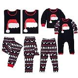 Junkai Pigiama natalizio Imposta abbinamenti per la famiglia Pigiameria Indumenti per la casa Vestito 2 pezzi Stampato per padre e madre