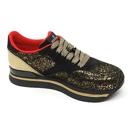 B9510 sneaker donna HOGAN CLUB H222 scarpa oro/nero shoe woman Oro/Nero