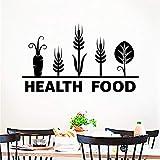 YXWLKG Adesivo da Parete Adesivi murali Neri Cucina complementi arredo casa Decalcomanie da Muro Motivi vegetali murali in Vinile manifesti d'Arte