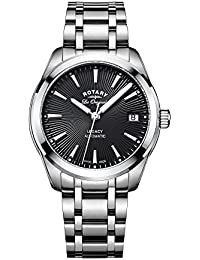 Rotary Women's Automatic Watch with Grey Dial Analogue Display and Silver Stainless Steel Bracelet LB90165/04