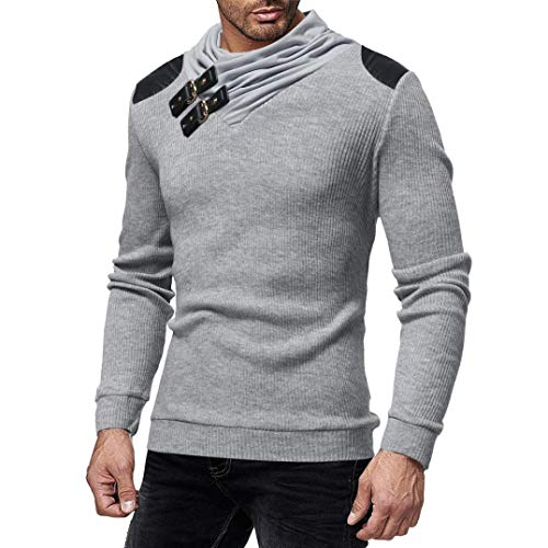 Imagen de wwricotta luckygirls camisetas para hombre camisa de manga larga punto patchwork de cuero originales casual poleras deportes polo remeras fitness sudaderas modernas streetwear chándal suéter