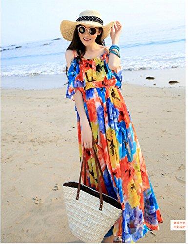 Qiyun 1077s0395–Robe pour femme Bleu