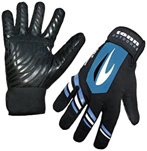 Tenn-Outdoors Men's All Weather Water/ Windproof Cycling Gloves - Black/Blue, X-Large