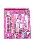 #5: GTC School Stationery Kit For Kids (Pencil, Sharpener, Rubber, Scale, Glue, Pen, Tape, Scissor) ITN212 (Pack Of 1, Pink)