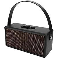 Altavoz Bluetooth, subwoofer de madera portátil Altavoz Bluetooth con correa de mano y soporte para cable de audio Tiempo de reproducción 6H, altavoz estéreo inalámbrico de llamadas manos libres.