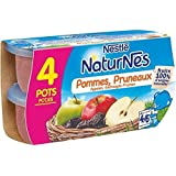 Nestlé naturnes compote de pommes pruneaux 4 x 130g dès 4/6 mois - ( Prix Unitaire ) - Envoi Rapide Et Soignée