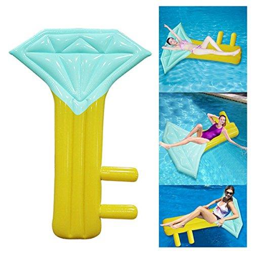 DMGF Aufblasbare Pool Floats Für Erwachsene Riesen Diamant Key Form Portable Mit Schnellventilen Sommer Outdoor Schwimmen Beach Party Lounge Drifter Mat