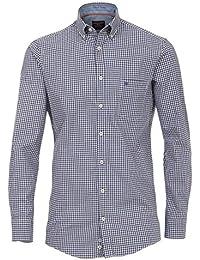 Casa Moda Hemd Comfort Fit Sports Edition Karo blau Button-Down
