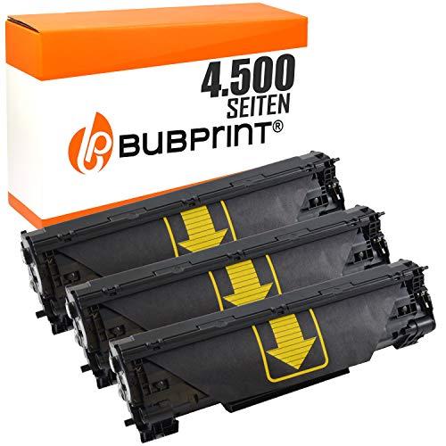 3 Bubprint Toner kompatibel für HP CF283A 83A für LaserJet Pro MFP M125a M125nw M126a M126nw M127fn M127fs M127fw M128fn M128fw M201dw M201n M225dn M225dw M226dn M226dw Schwarz