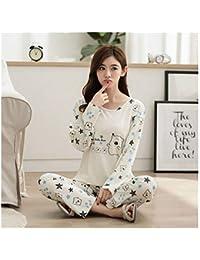 HAOLIEQUAN Pijamas para Mujeres Ropa De Dormir De Seda Real Conjuntos De 2 Piezas Conjunto De
