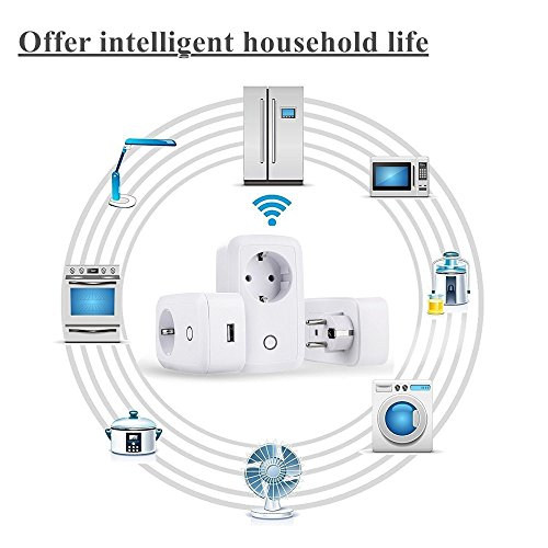 WiFi Smart Socket 10A Timer Presa Casa Outlet Intelligente Switch Wireless Timer Presa Di Alimentazione Telecomando Programmabile Interruttore Elettrico Con Funzione Di Temporizzazione Per Apple iPhon 10A smart socket