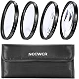 Neewer 4Pc Round Close-Up Macro Zoom Lenses For All 55Mm Camera Brands
