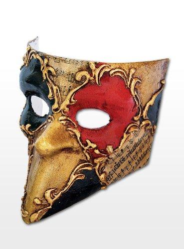 Maske Bauta Kostüm (Venezianische Mini Maske Deko Bauta Schachmuster bunt)