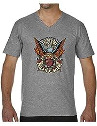 Eagles Of Death Metal Color Camiseta Cuello V para hombre