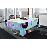 "Miyanbazaz Textiles Dinning Table Cover For 4 Seater Cotton Floral Print Design Square Size 60 X 60"" Tablecloth"