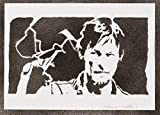 Daryl Dixon The Walking Dead Poster Plakat Handmade Graffiti Street Art - Artwork