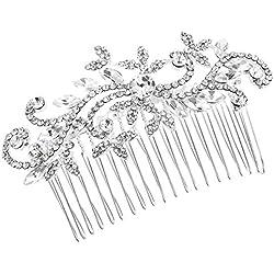 Damen österreichischen Silber Strass Haarkamm Haarschmuck Hochzeit Zubehör