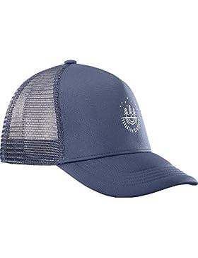 Salomon Gorra de Malla para Hombre, Summer Logo Cap, Talla única Ajustable, Azul Oscuro, L40046500