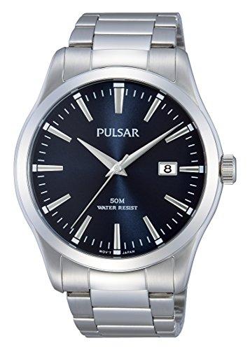 Pulsar PS9297X1 Stainless Steel Bracelet Watch Wrist Quartz Analogue Men Gift