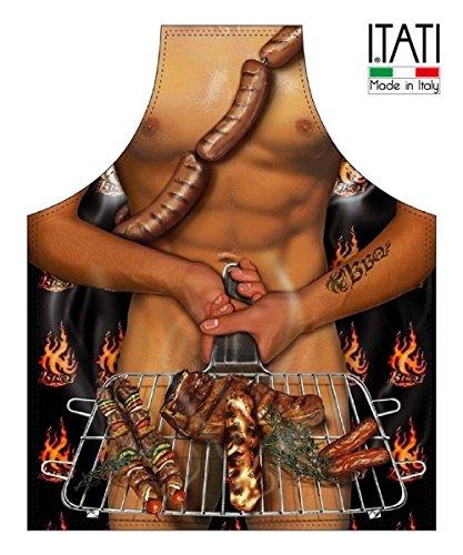Delantal de Cocina Antimanchas para Hombre, Modelo Parrilla, Medidas 75 x 58 cm