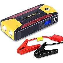 Arrancador de Coche de 20.000 mAh, YOKKAO, Jump starter Cargador para Baterías de 12V y Cargador de 15V, 16V, 19V, Batería Externa con Luces de Emergencia, Kit de Arranque para Coche, Moto y Cargador de Smartphone, Laptop, etc.