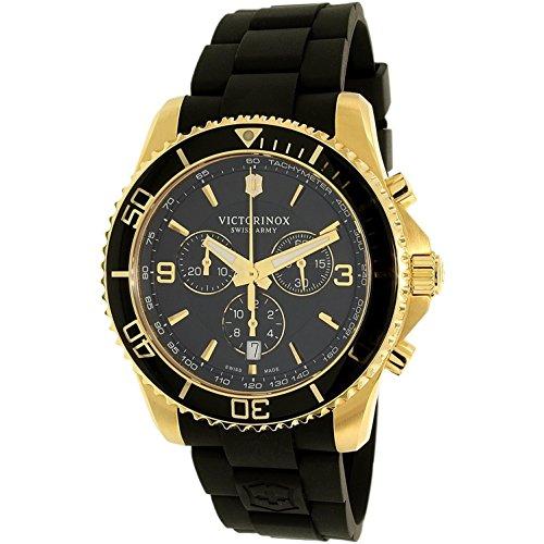 Victorinox Men's Maverick 43mm Silicone Band Steel Case Quartz Watch 249099
