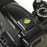 Tinxi - Protector para la zapata del flash con nivel en forma de bola esférica para cámaras réflex Nikon, Canon, Olympus, Pentax y Fuji