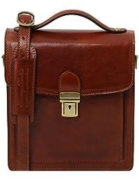 Tuscany Leather - David - Sac bandoulière en cuir pour homme - Petit modèle - Marron