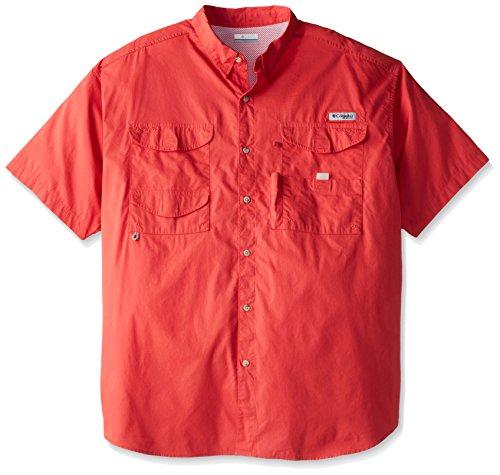 Columbia Herren Bonehead Kurzarm Arbeitshemd, bequem und atmungsaktiv, Herren, BoneheadTM Short Sleeve Shirt, Sunset red, Large - Columbia Bonehead Shirt Angeln