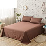 Ganze baumwolle einzel farbe blatt Einzigen Bettwäsche für zwei personen Einzel-bett-blatt-K 200x245cm(79x96inch)