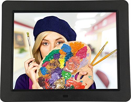 """Rollei Degas DPF 12\"""" - Digitaler Multi-Media Bilderrahmen mit 12\"""" (30,48 cm) TFT-LED Panel, Bild-, Video-, Musik-, Kalender- und Uhrfunktion, Diashow, inkl. Fernbedienung - Schwarz"""