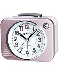Rhythm(Japan) Bell Alarm ,Snooze,Hologram Dial,Silky Move,Radium Value Added Bell Alarm Clock(10.8x9.5x6.5cm)
