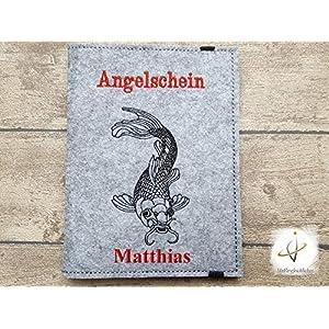 Hülle Angelpass / Angelschein / Angelpapiere Filz Anglerschein Angelzubehör Angelpasshülle
